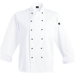 white chef jacket double breasted Image
