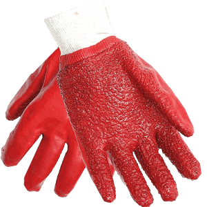 Red Pvc gloves Image